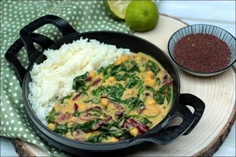 curry épinards beurre de cacahuètes