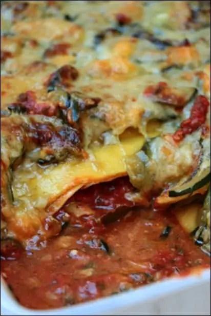 lasagnes vegetarienne courgette et chevre