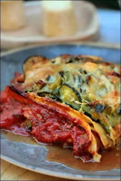 lasagnes courgette et chevre