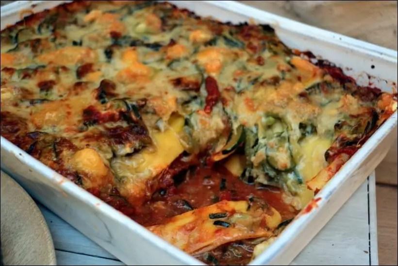 lasagnes courgette chevre