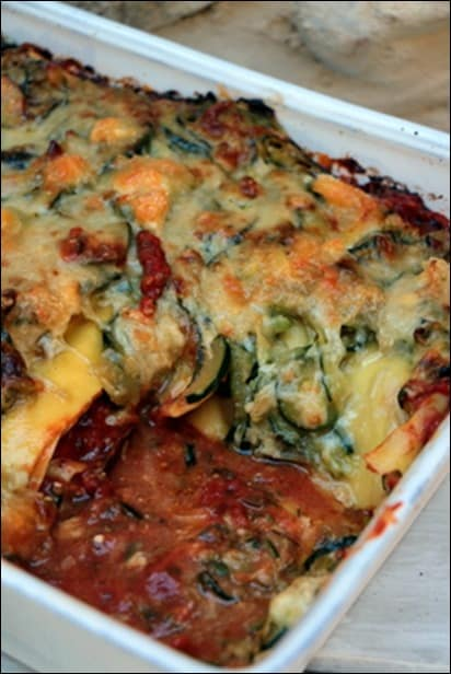 lasagnes courgette tomate