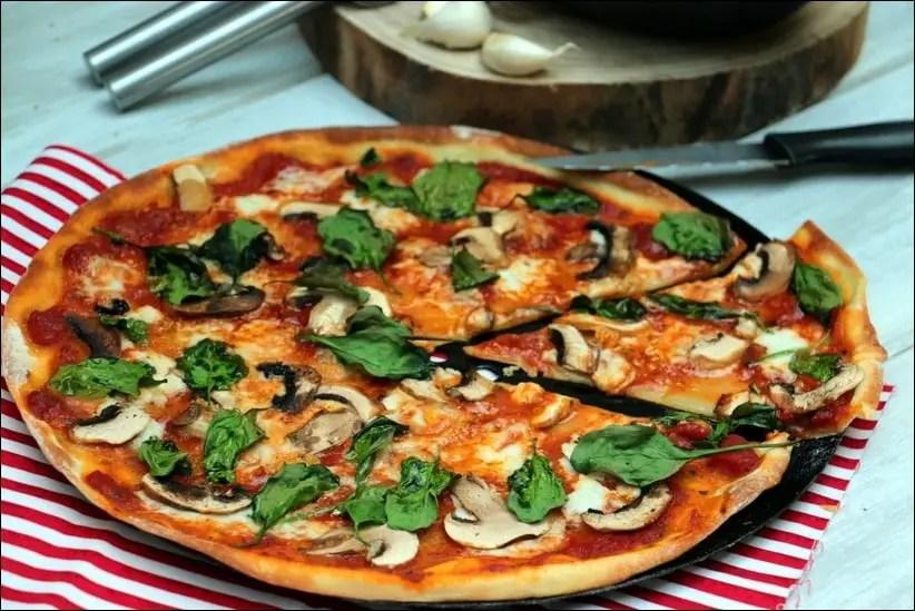 pizza végétarienne facile