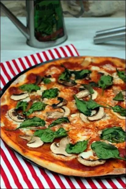 pizza vegetarienne epinard