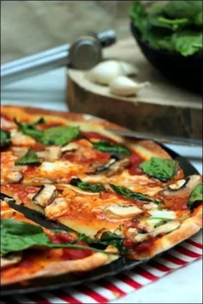 pizza champignons de paris