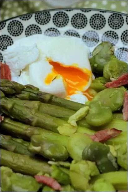 recette asperges vertes feves