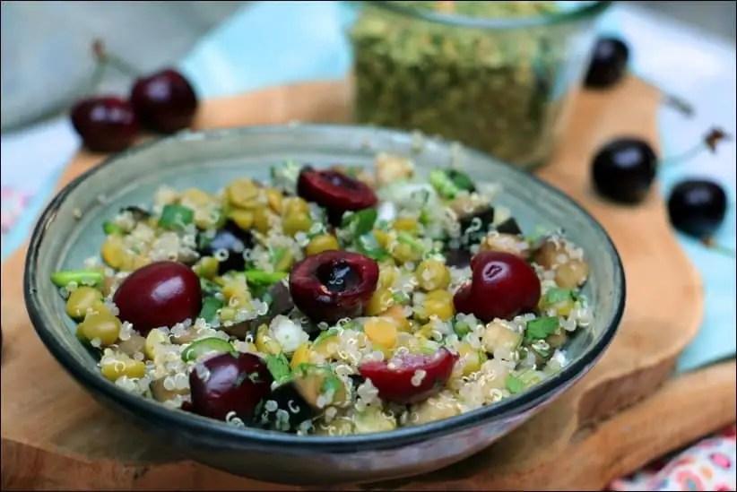 salade quinoa cerises