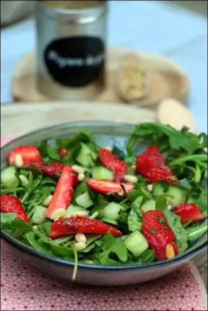 salade de fraise sans sucre