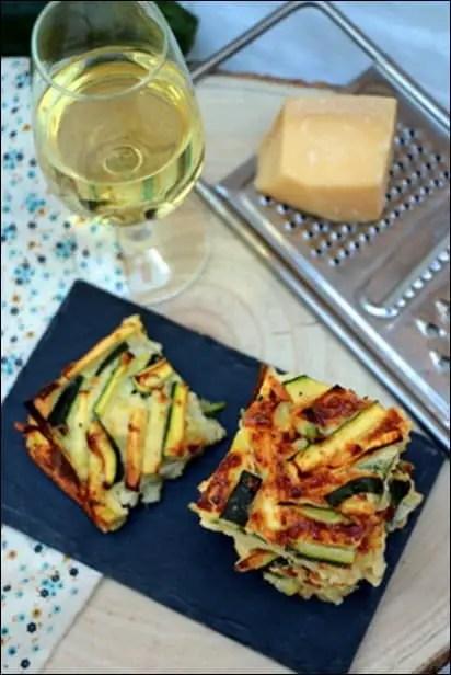 scarpaccia courgette parmesan