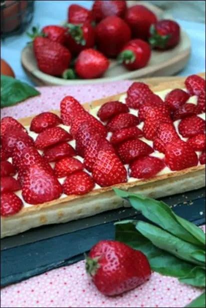 tarte fraise avec creme patissiere