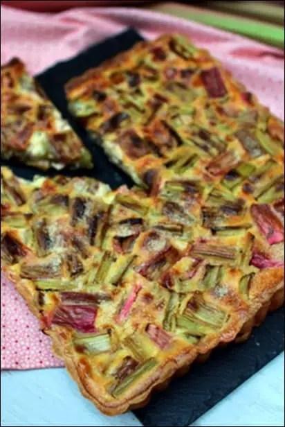 tarte rhubarbe à l'alsacienne