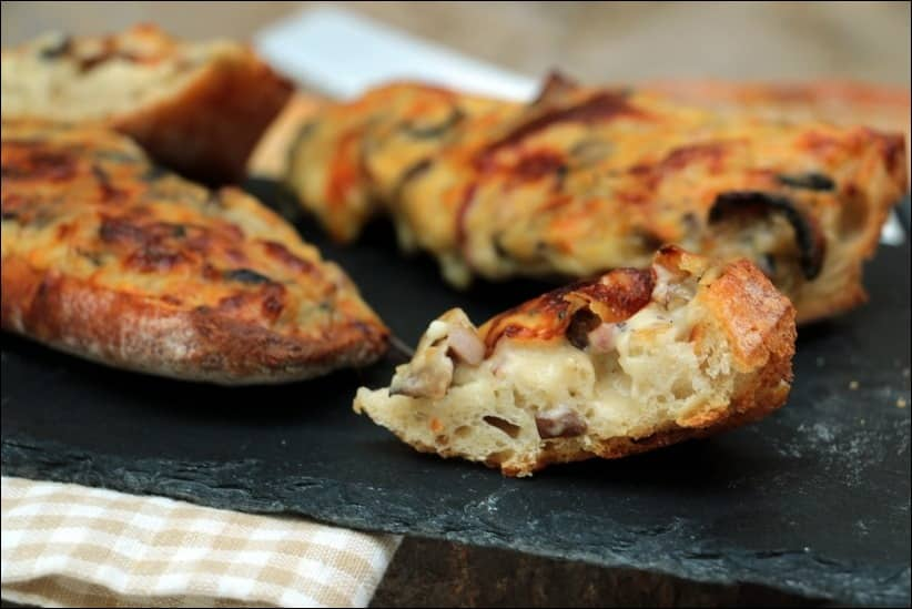 tartine pain lardons