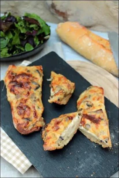 tartines lardons champignons béchamel