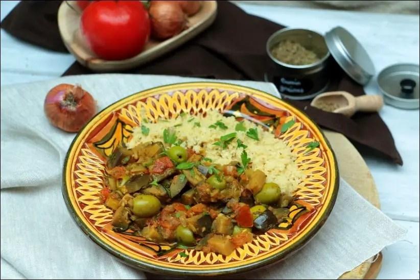 aubergine olives vegan