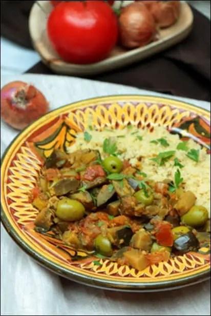 aubergine tomate recette