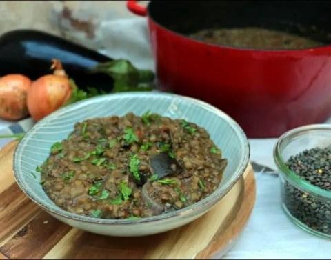 cocotte de lentilles et aubergines de Yotam Ottolenghi