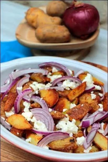 pommes de terre sautées non épluchées
