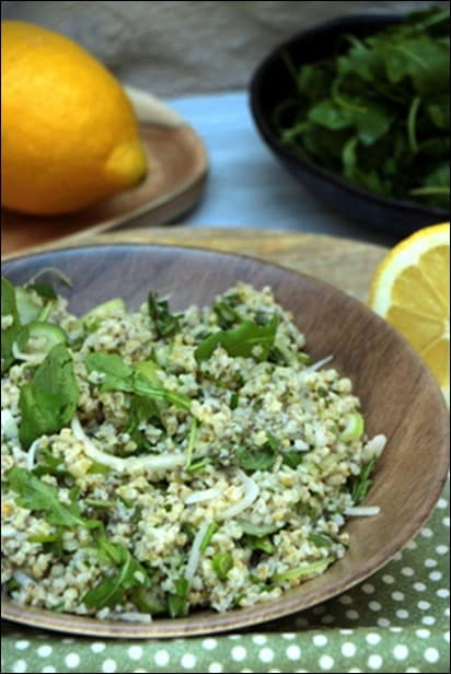 salade boulgour menthe citron