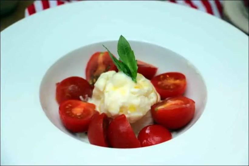salade caprese tomates