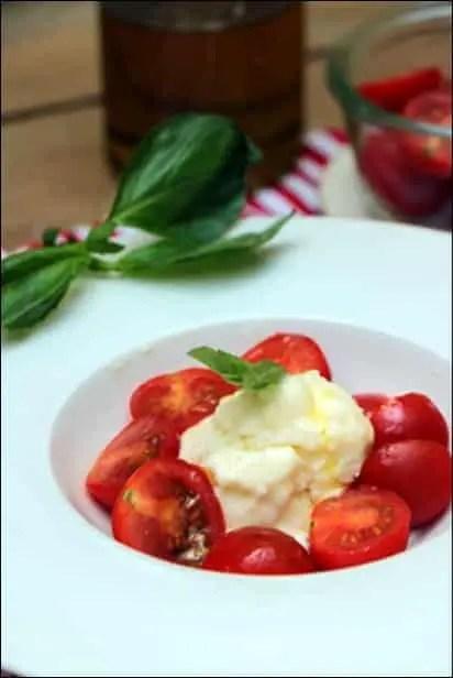 crème glacée mozzarella