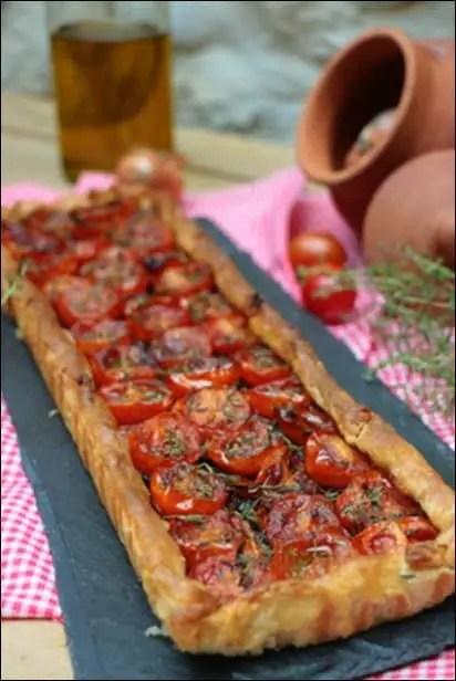 tarte tomate et moutarde