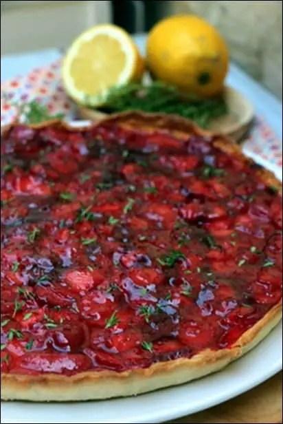 tarte fraise glacage