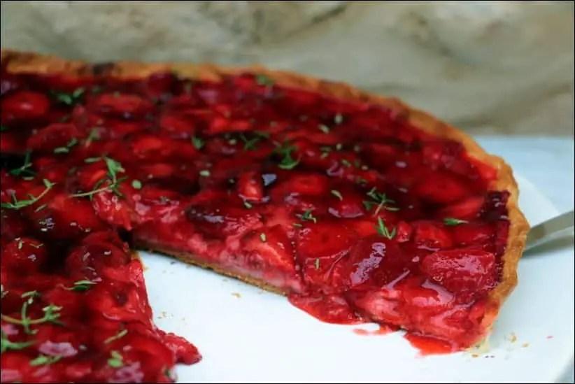 tarte fraises legere