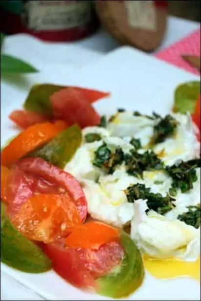 tomate mozza ail