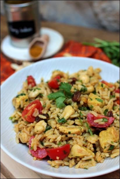salade poulet indienne