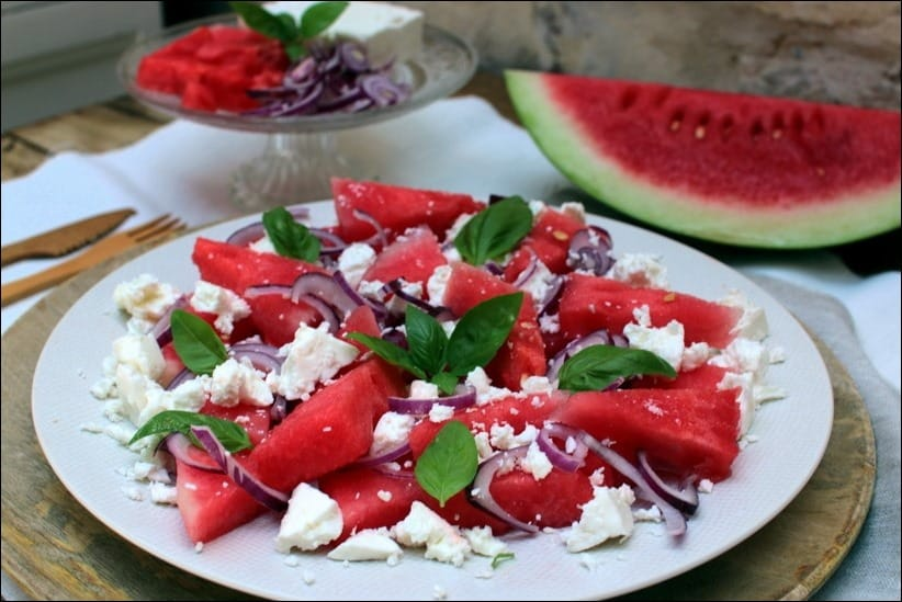 salade pasteque feta oignon