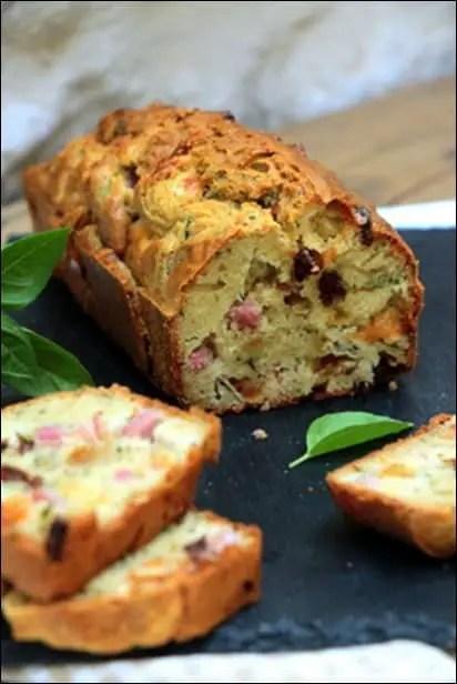 cake jambon chevre basilic
