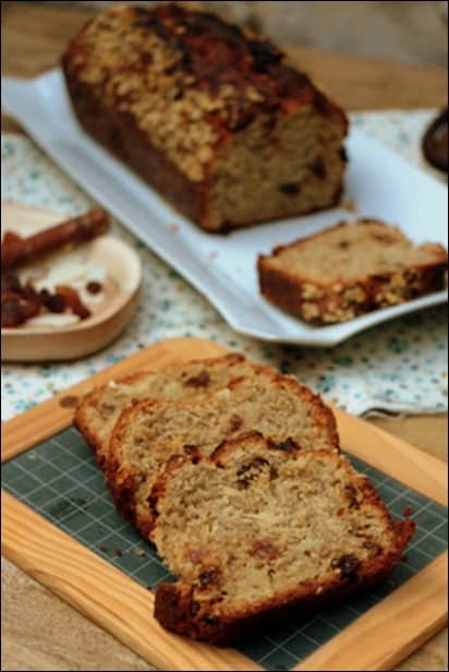 cake aux flocons d avoine et raisins secs