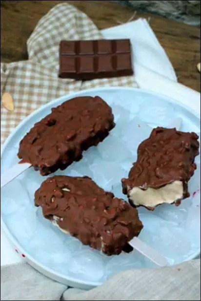 batonnet vanille enrobage chocolat au lait