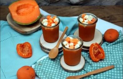 gaspacho au melon abricot et feta