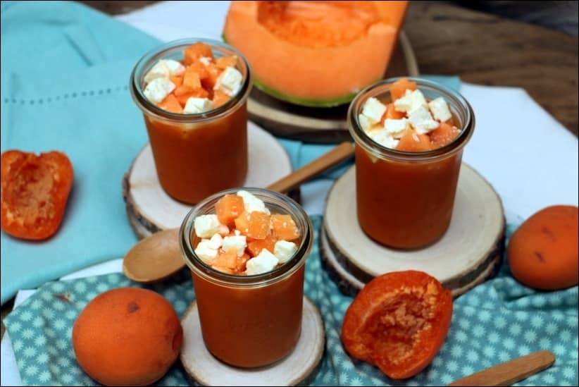 soupe froide melon feta