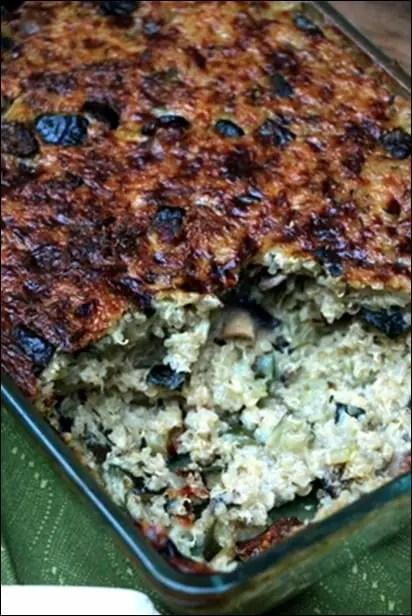 gratin quinoa légumes
