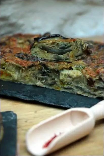 flan aubergine safran