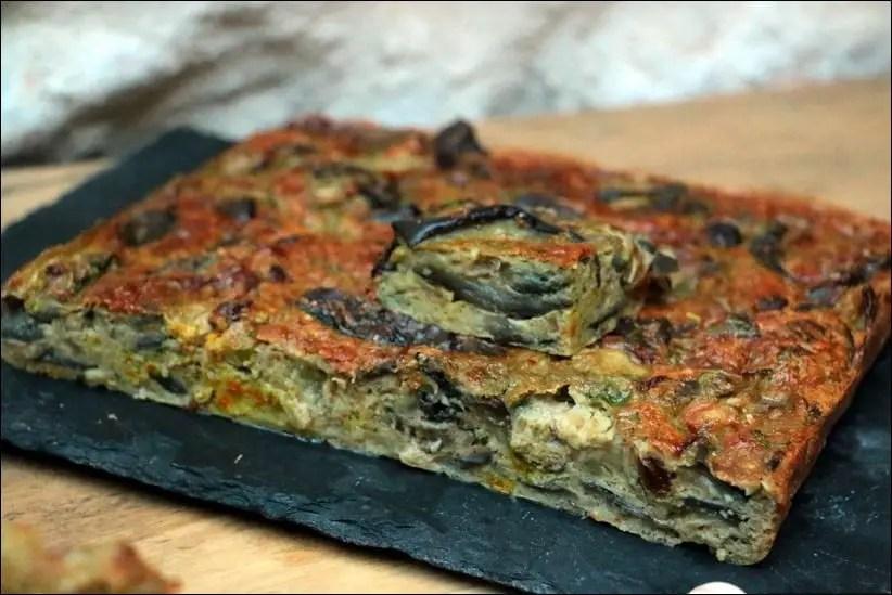 omelette ail aubergine