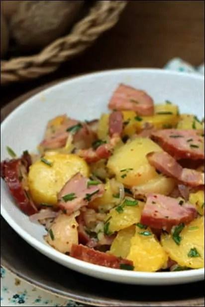 pomme de terre aux saucisses fumées