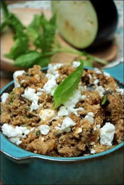 salade quinoa feta aubergine