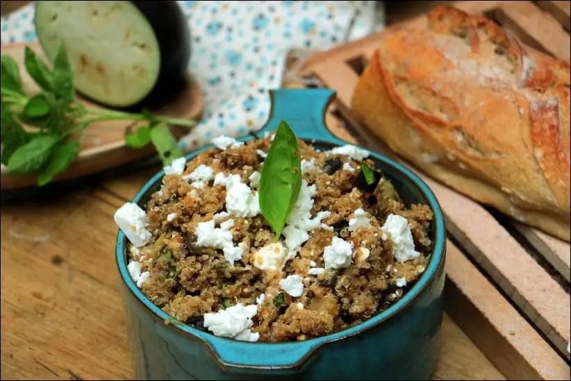 salade quinoa aubergine