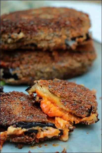 aubergine panée mozzarella