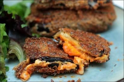 aubergine mozzarella beignet