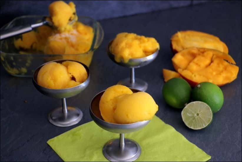 sorbet mangue vegan