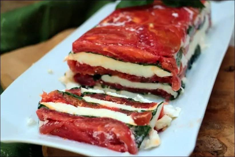 terrine caprese tomate mozzarella
