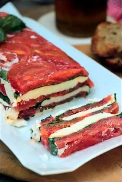 terrine caprese tomate mozza