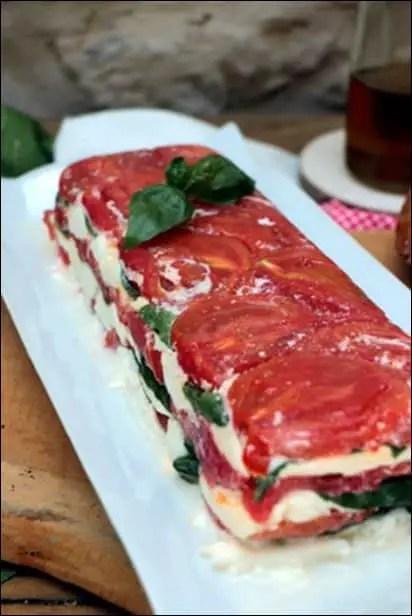 terrine tomate mozza basilic