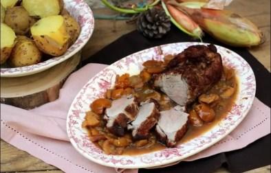filet mignon de porc au cognac et mirabelles