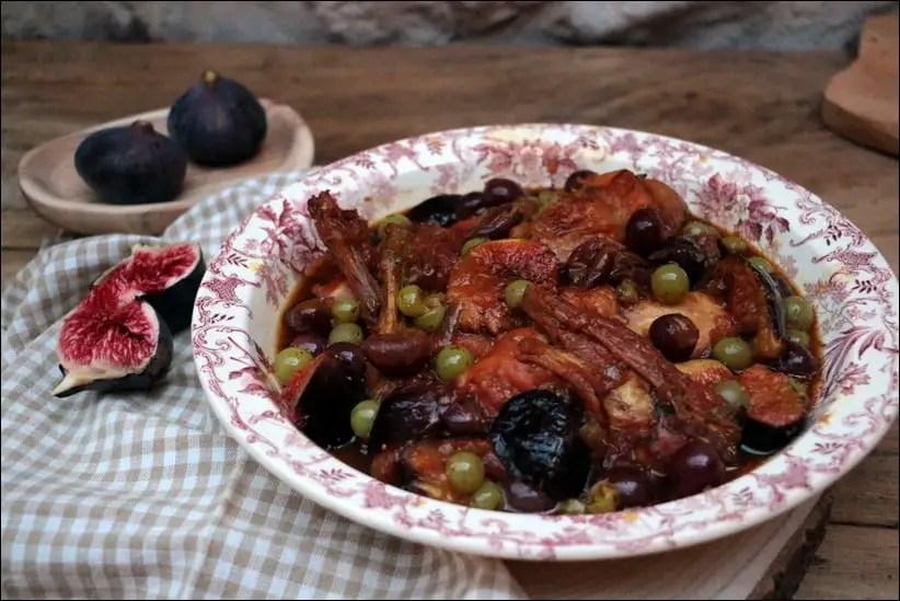 lapin raisin frais figues fraiches miel