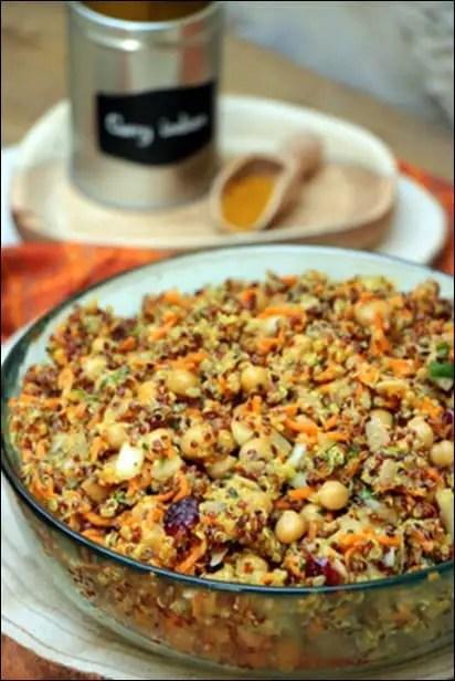 salade quinoa indienne