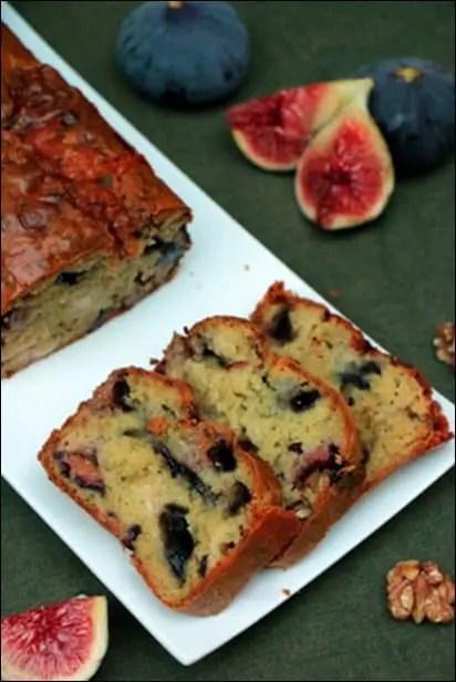 cake figues fraiches roquefort